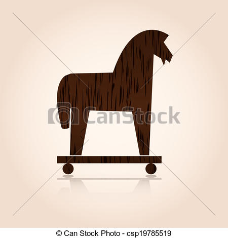 Trojan Horse clipart wooden Stock  Images and