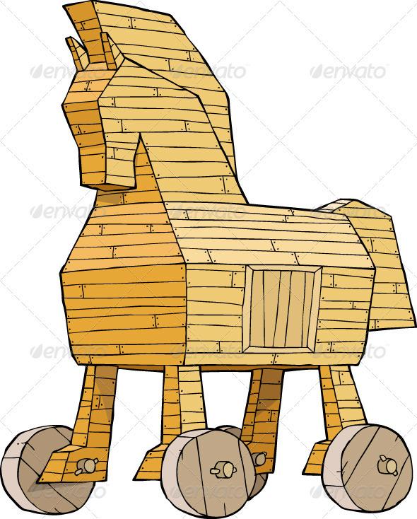 Trojan Horse clipart wooden Ai Graphic Logo IMAGE psd)