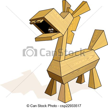 Trojan Horse clipart wooden CMYK 1 Trojan Trojan by