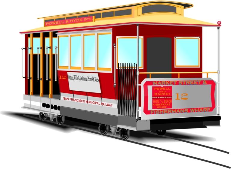 Trolley clipart industrial Trolley Clipart Francisco Trolley –