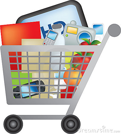 Trolley clipart empty Supermarket Trolley Clipart  Shopping