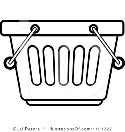 Basket clipart grocery store Black White Clipart Grocery Store