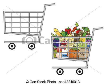 Trolley clipart empty  a and Illustration illustration