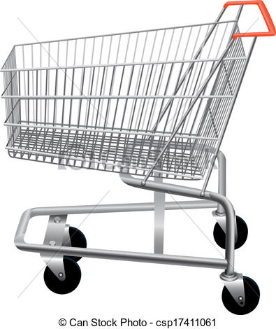 Trolley clipart empty On of cart supermarket Art