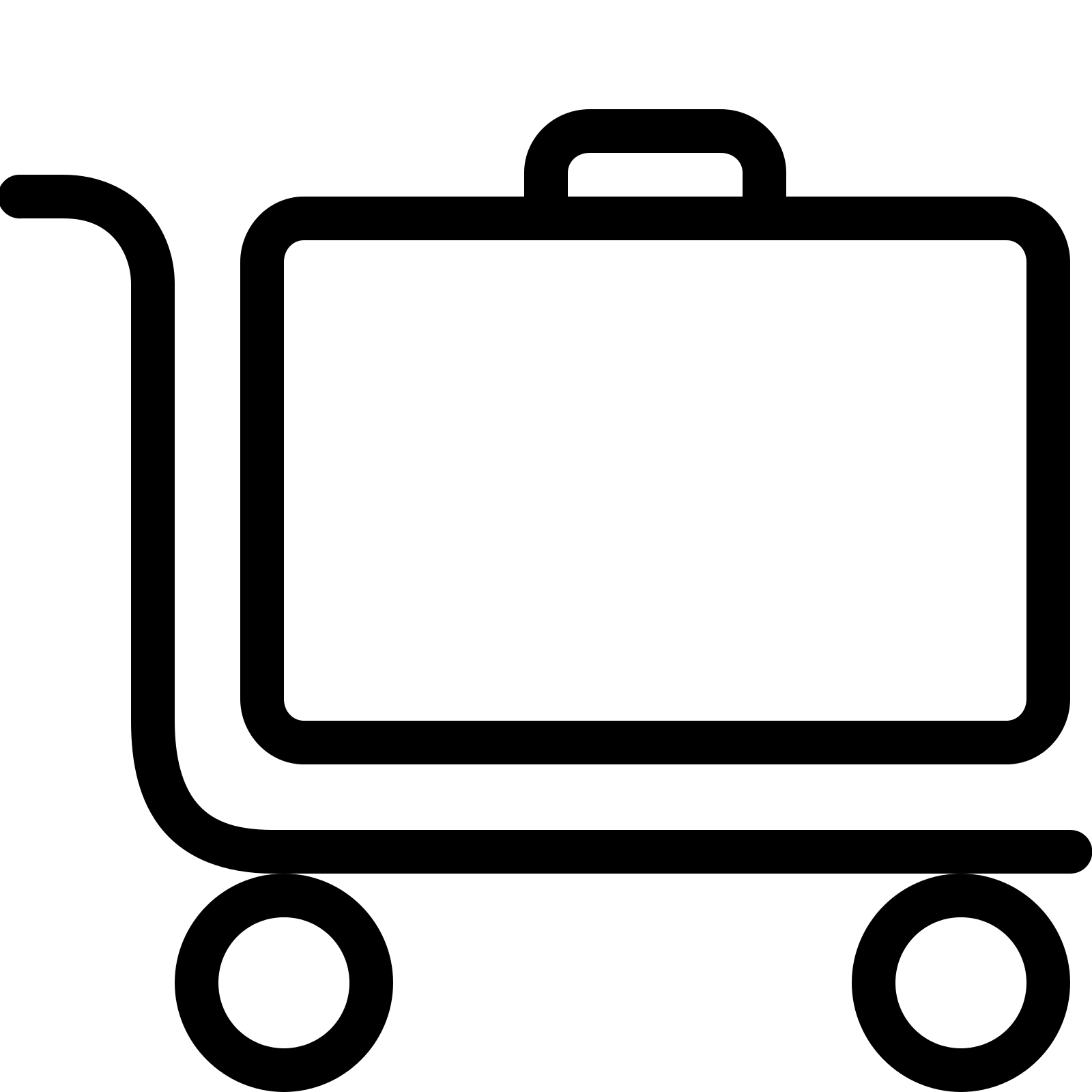 Trolley clipart icon Free icon Luggage SVG Icon
