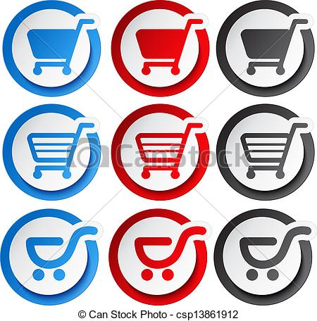Trolley clipart item Cart Vector  Vector sticker