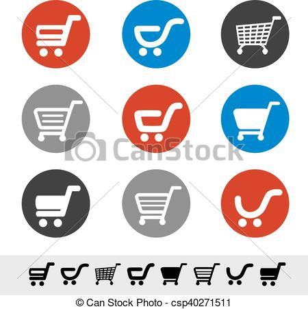 Trolley clipart item Item Vector in cart Clip