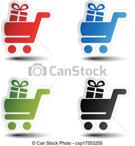 Trolley clipart item  shopping item with of