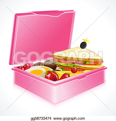 Trolley clipart lunch Clipart Lunch GoGraph Vector in