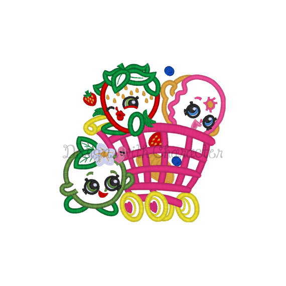 Trolley clipart shopkins Applique DesignsWithCharacter applique on machine
