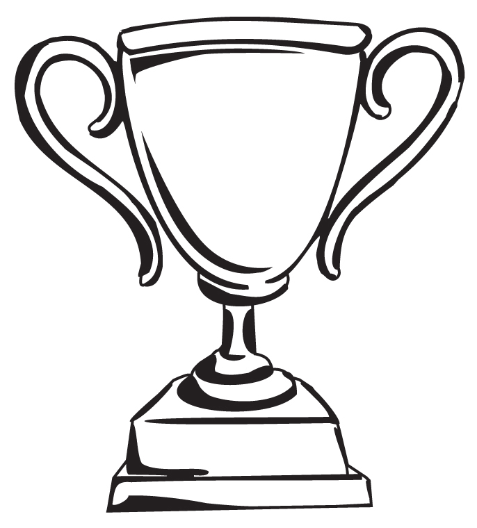 Drawn trophy Clipartion Images With Art Woman