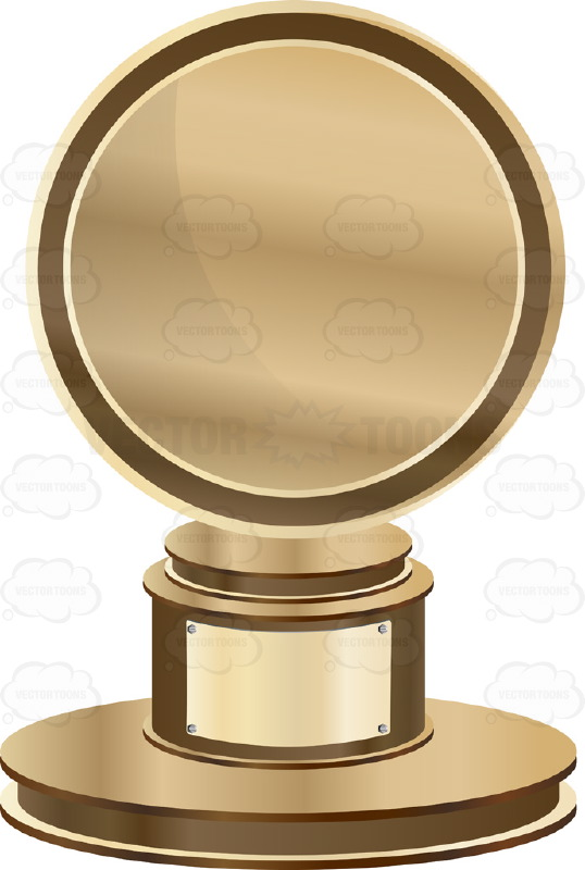 Trophy clipart achievement Bronze On Silver With Blank