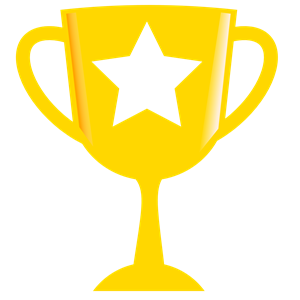 Trophy clipart achievement Golden Trophy with with clipart
