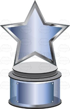 Trophy clipart blank Cartoon With Triangle Base Blank
