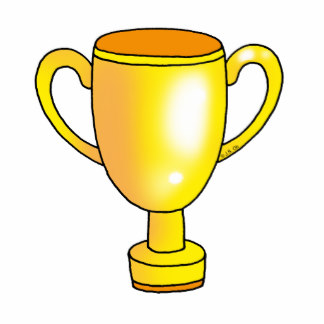 Yellow clipart trophy  Gold Champion Trophy Clip