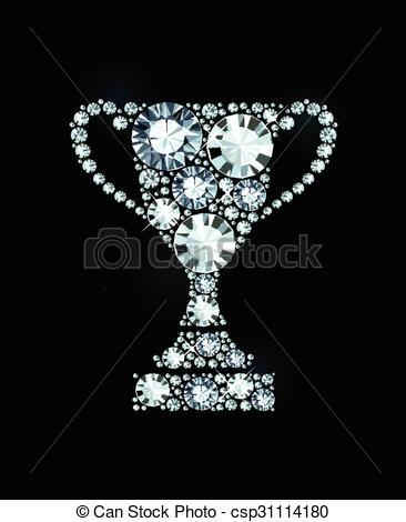 Trophy clipart diamond Vector  Award Diamond Made