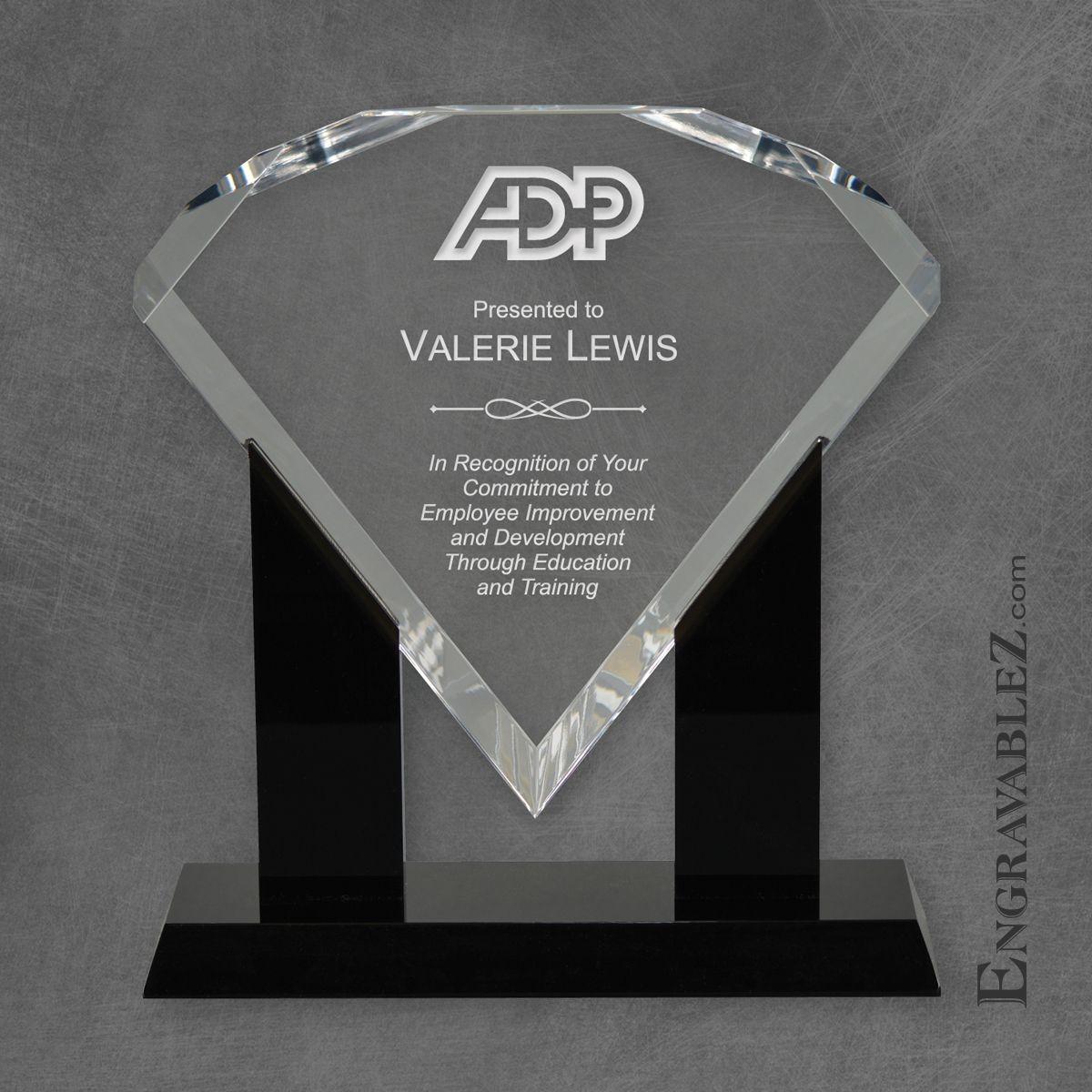 Trophy clipart diamond Black Award Acrylic Base Diamond