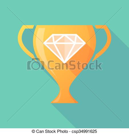 Trophy clipart diamond With icon trophy diamond Long