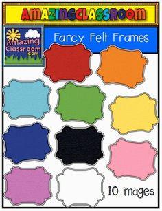 Trophy clipart fancy Set includes Fancy Frames clip