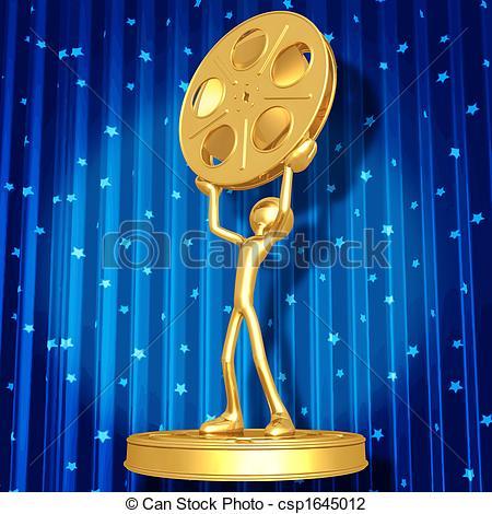 Ceremony clipart awarding ceremony Art Clip 3D Award csp1645012