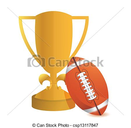 Trophy clipart football trophy Football background Football on Cup