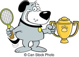 Trophy clipart funny Cartoon illustration Clip holding trophy