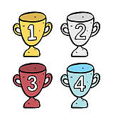 Trophy clipart funny · Trophy of doodle Royalty