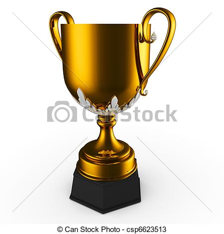 Trophy clipart gold cup Trophy isolated white trophy csp6623513