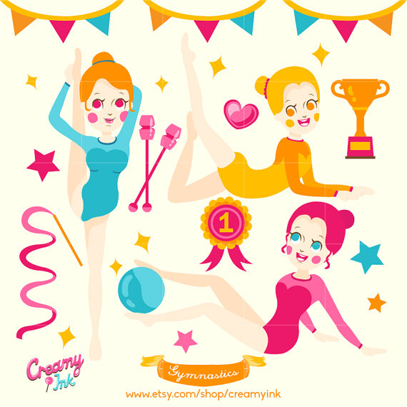 Gymnastics clipart trophy Clip on Party art from