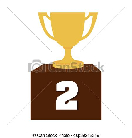 Trophy clipart last place Cup icon place vector second