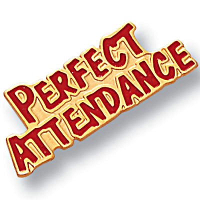 Trophy clipart perfect attendance Perfect Pin Athletic Perfect by