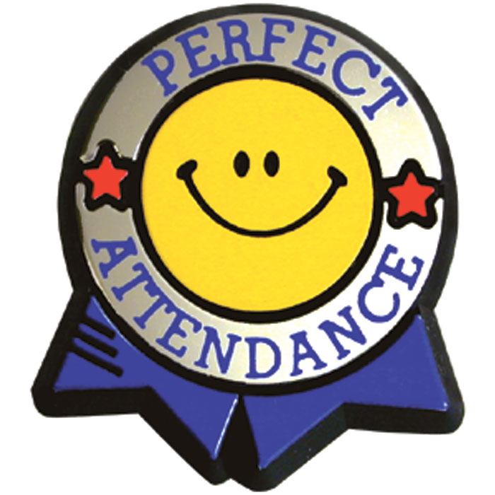 Trophy clipart perfect attendance Supply School Pin Attendance Pin