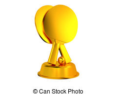 Trophy clipart ping pong Tennis with Table a