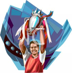 Trophy clipart player A Holding A Image: a
