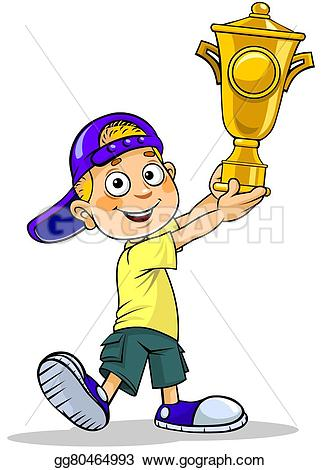 Trophy clipart school A holding gg80464993 Drawing Drawing