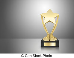 Trophy clipart star trophy Stock Metal background gray Photos