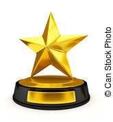 Trophy clipart star trophy Golden of Drawing stars and