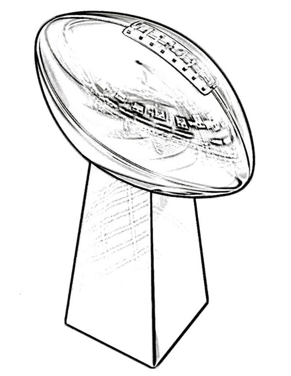 Trophy clipart superbowl Page Trophy Bowl Kids Pages