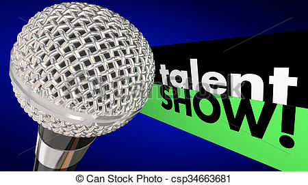 Microphone clipart talent show #2