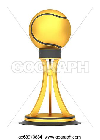 Trophy clipart tennis trophy Illustration tennis cup isolated gg68970884