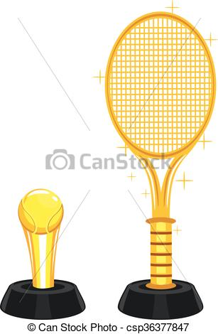 Trophy clipart tennis trophy Vector EPS Gold csp36377847 and