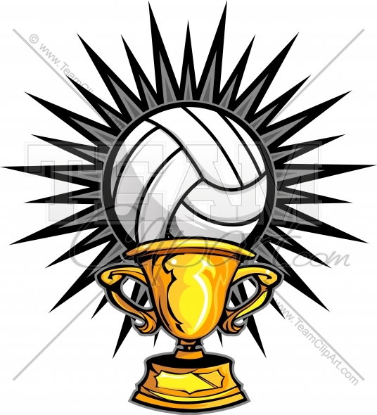 Trophy clipart volleyball Volleyball Volleyball Image  Clipart