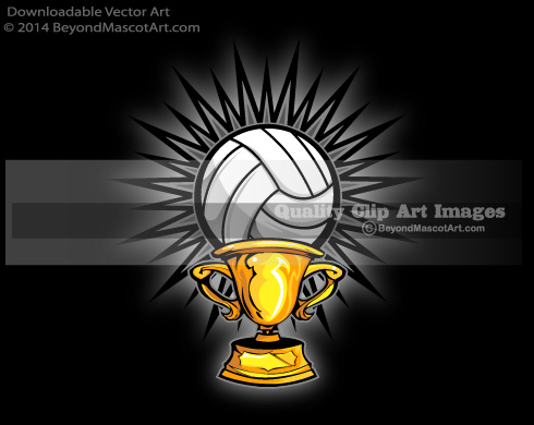 Trophy clipart volleyball And Mascot Adobe Team Trophy