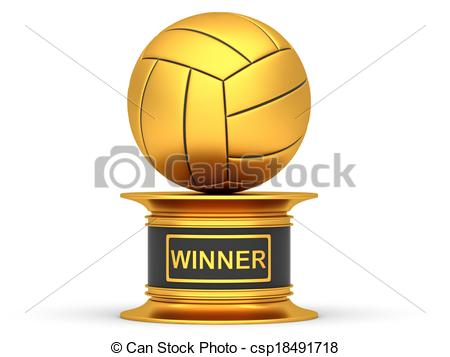 Trophy clipart volleyball On cup Award trophy volleyball