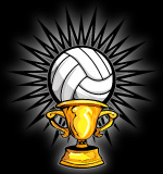 Trophy clipart volleyball Clip 1402 Mascot Team Trophy