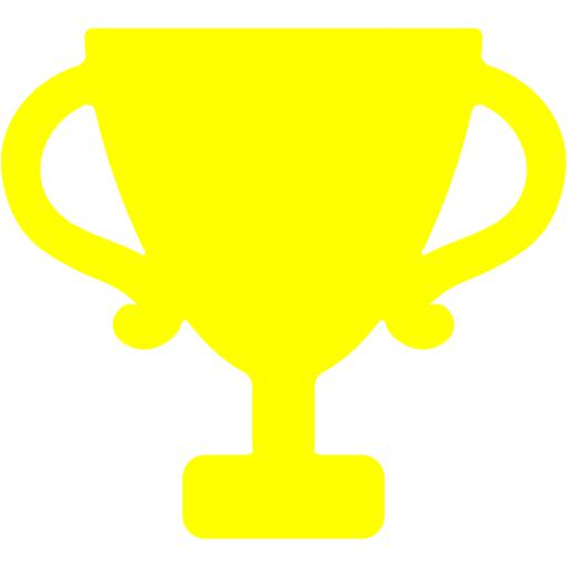 Yellow clipart trophy Yellow trophy icon icon trophy