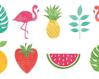 Tropical clipart Clipart Handpainted Clipart Watercolor 9