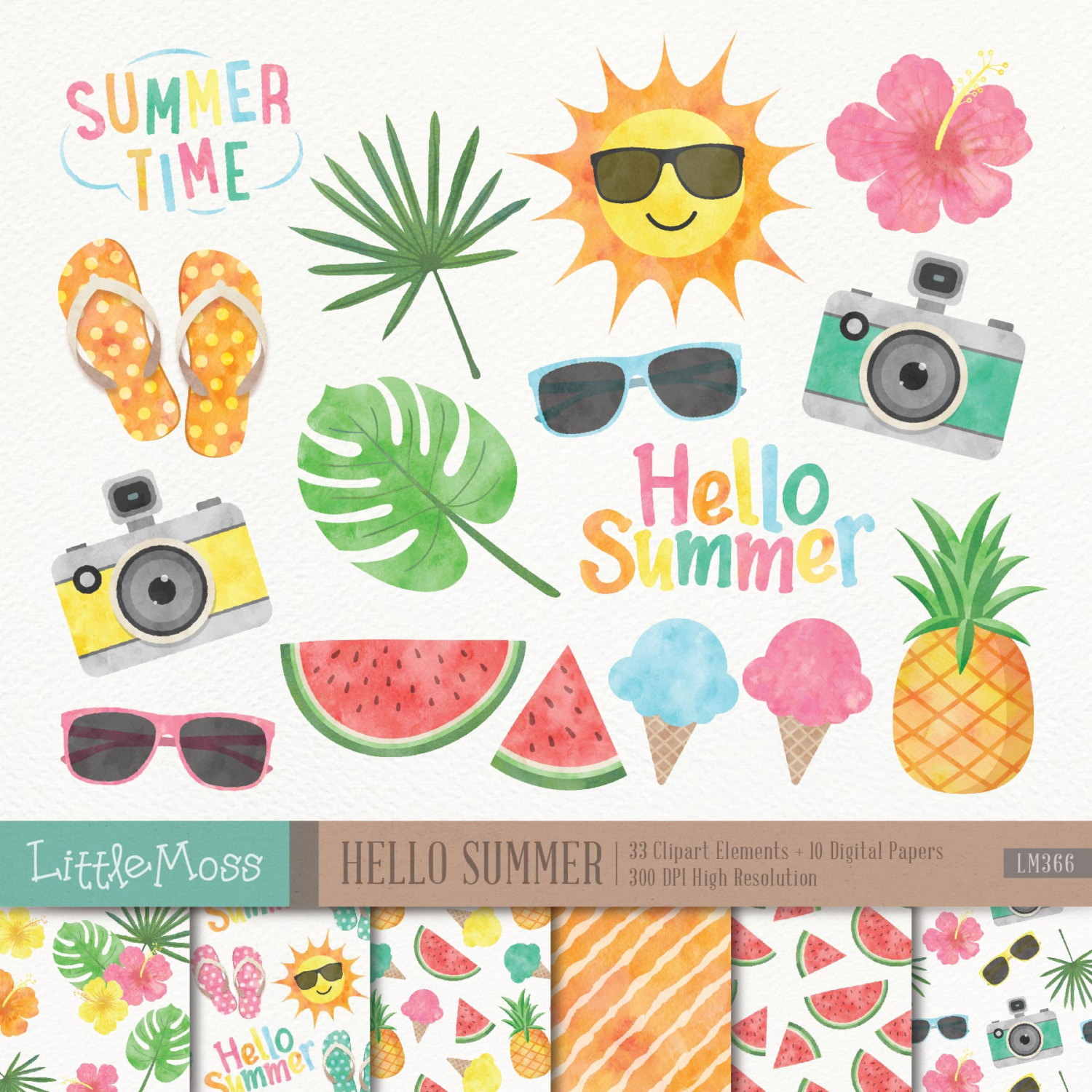 Tie clipart june summer Papers Summer Clipart Clipart Hello