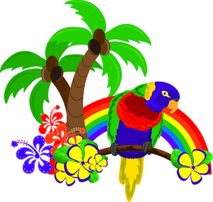 Tropical clipart Art Tropical Clipart Clipart Parrot