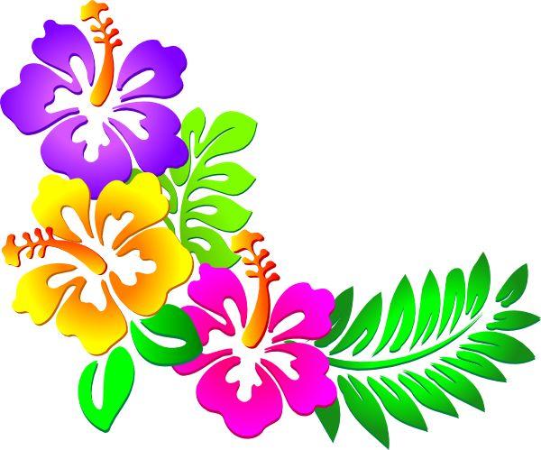 Blue Flower clipart hawaiian graphic Art online clip hawaii best